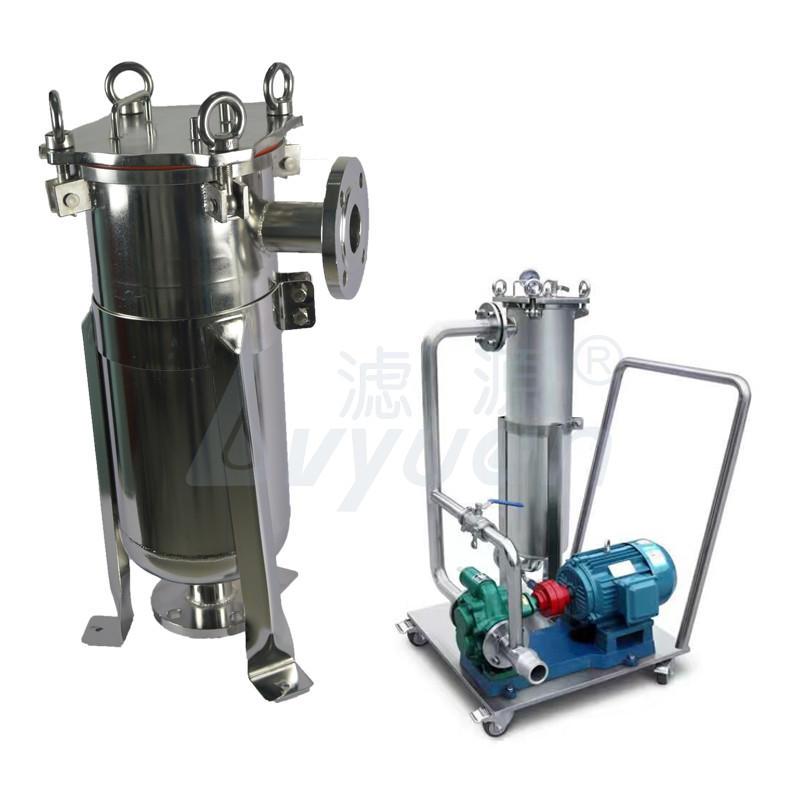 Reusable SS PP PE liquid bag filterliquid Filtration stainless steel media ss304 single bag filter housing