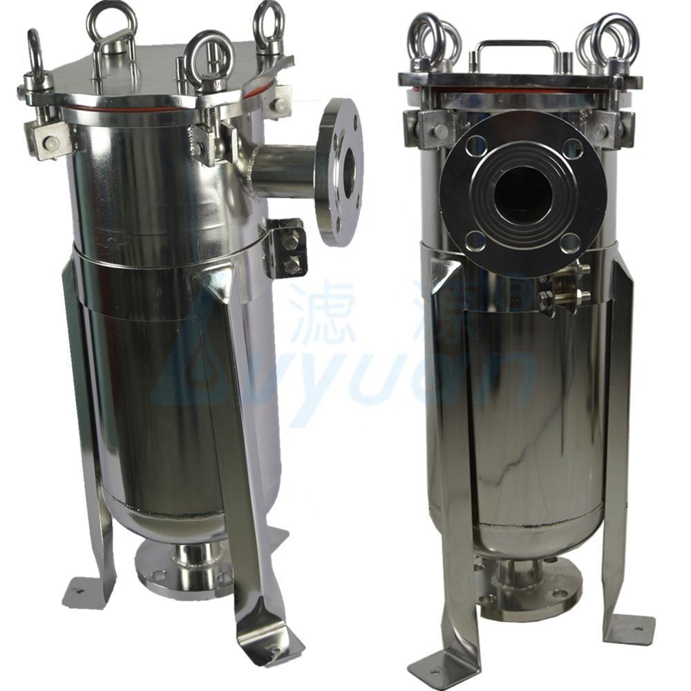 industrial liquid filtration ss single bag filter housing /stainless steel bag filter