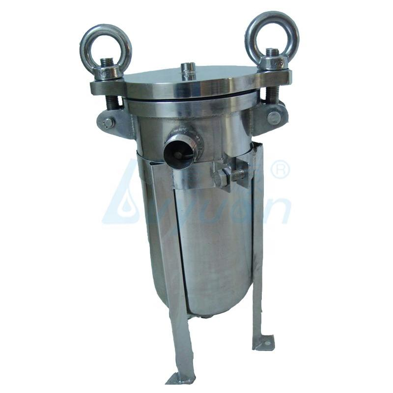 industrial liquid filtration ss single bag filter housing /stainless steel bag filter