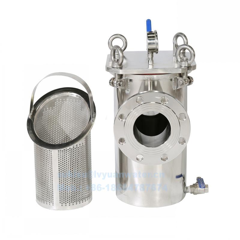 Stainless steel T Type Strainer Basket Filter Vertical Basket Screen Filter for Sewage Oil filtering