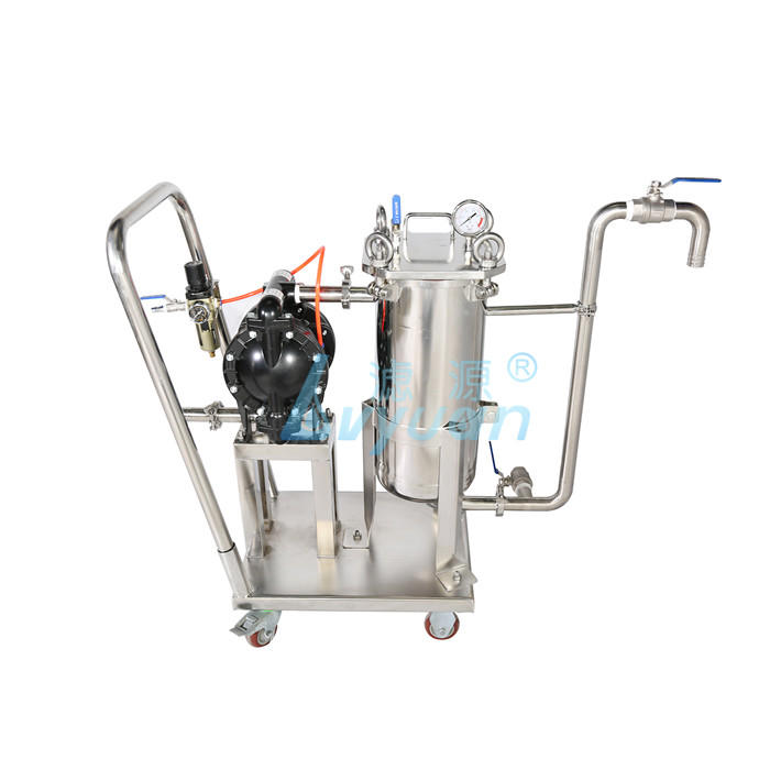 High pressure air pneumatic diaphragm pump 1/2/3/4 stage removable stainless steel bag filter machine for diesel oil industry
