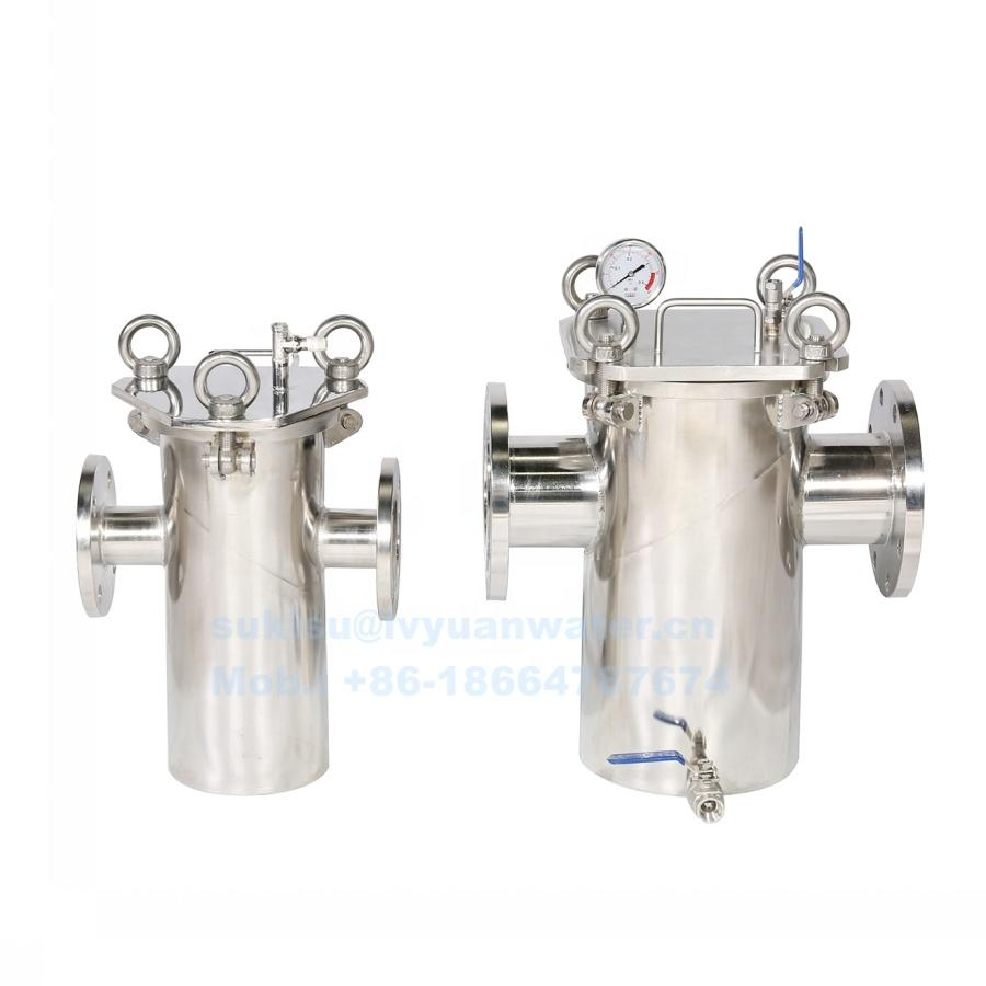 Factory price DN20/32/50/65/80/100/100/125/150/200 SS Flanged Single Dual Duplex basket filter Strainer housing
