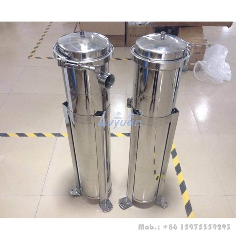 Single SS316L basket washable bag cartridge filter 5 microns stainless steel liquid filter housing for RO water filter system