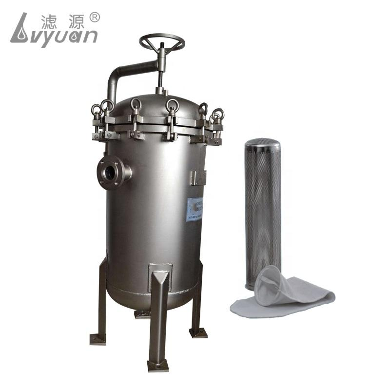 Manufacturer Industrial Bag type Water Filtration Purification Equipment Sanitary SS Bag Filter Housing