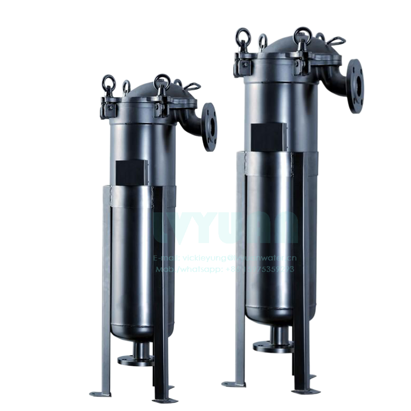 Top loading industry liquid bag 1 microns #1 #2 #3 #4 bag filter housing with stainless steel 304 316 strainer basket