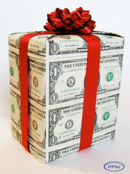 New Design Printed Money Wrapping Paper