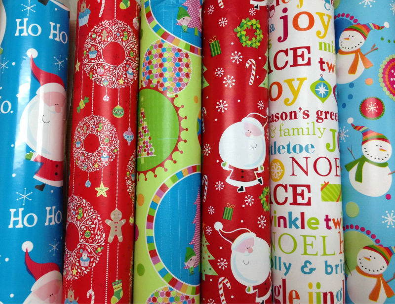 Latest Fancy Christmas Gift Wrapping Paper Roll 80gsm