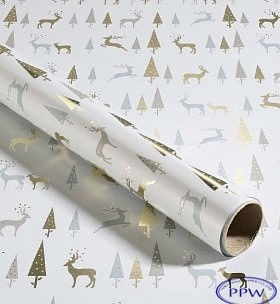 metallic white elegant christmas wrapping paper for gift wrapping
