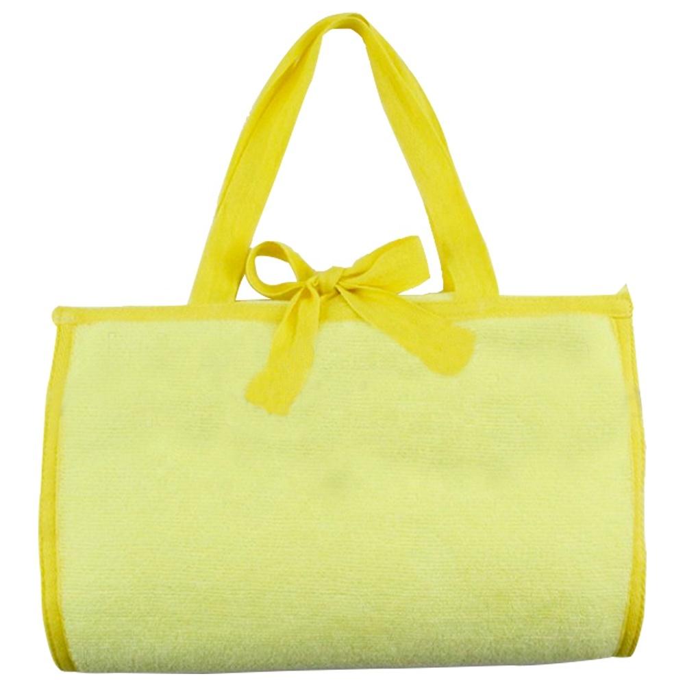 Promotional Portable Microfiber Folding Travel Towel Beach Bag