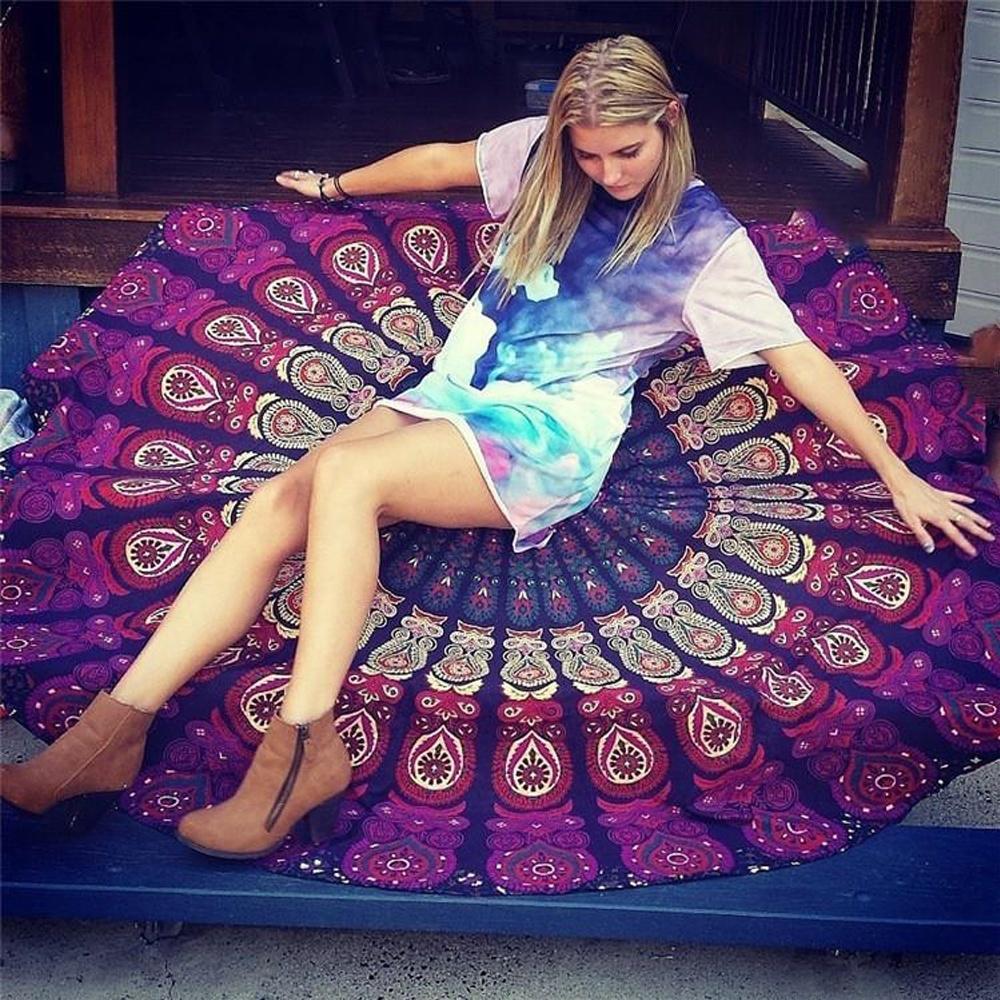 Hot wholesale beach Indian mandala tapestry for yoga