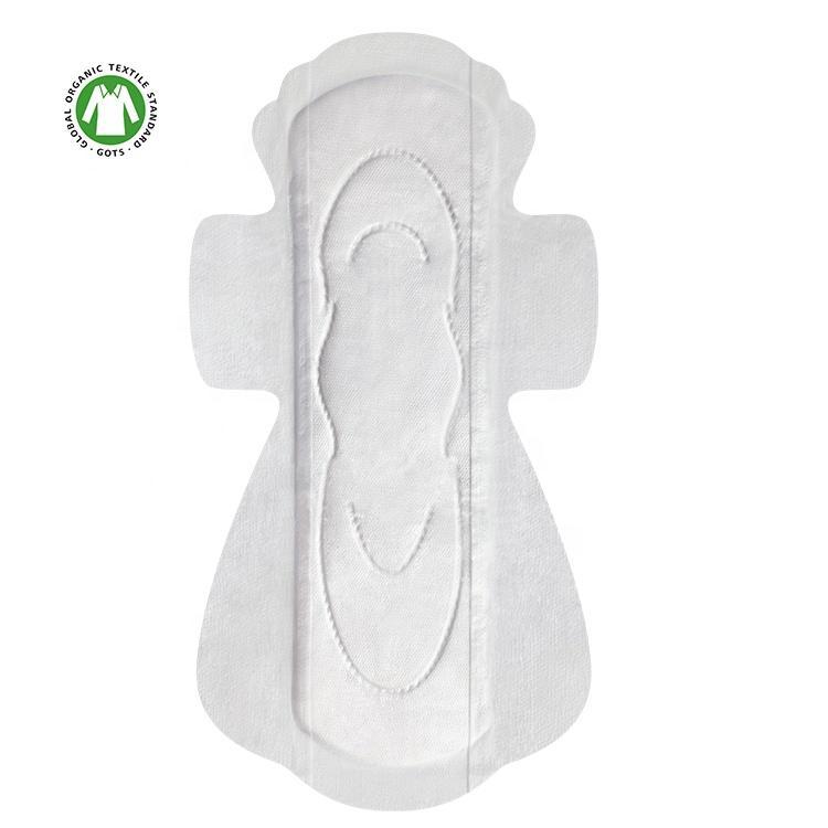 Feminine care organic period pads corn biodegradable sanitary pads