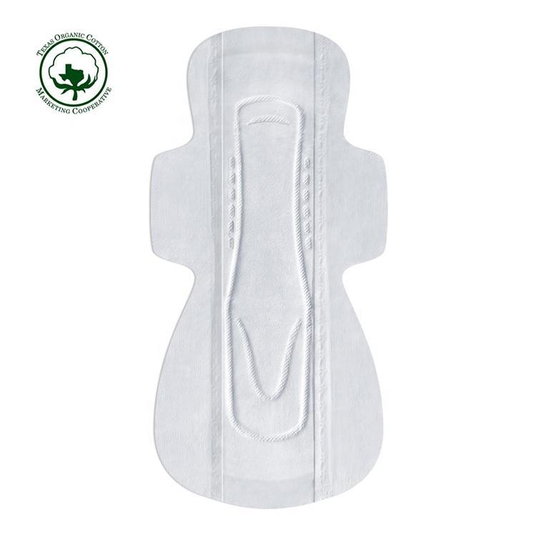 Compostable organic sanitary napkin eco bio cotton sanitary pads manufacturer