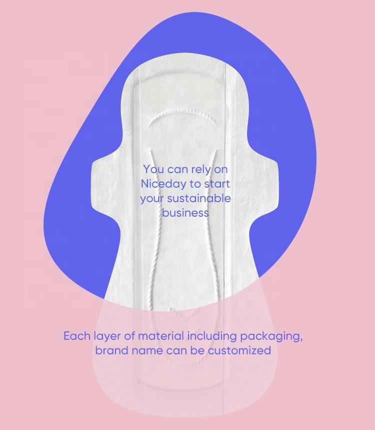 Customize biodegradable Texas organic feminine Pads with PLA wrap
