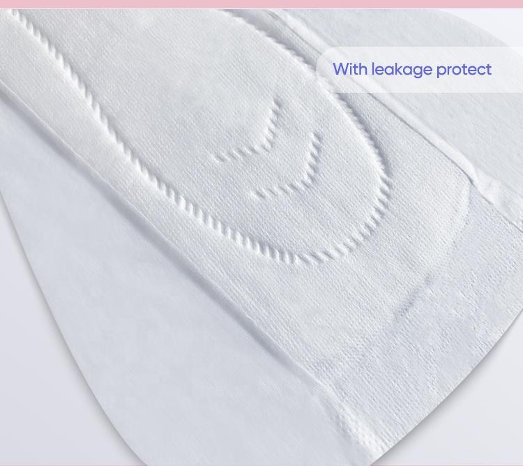 Sanitary Pads Zero Leakage Period Pads Custom Biodegradable Organic Cotton Disposable Night Breathable Regular Winged
