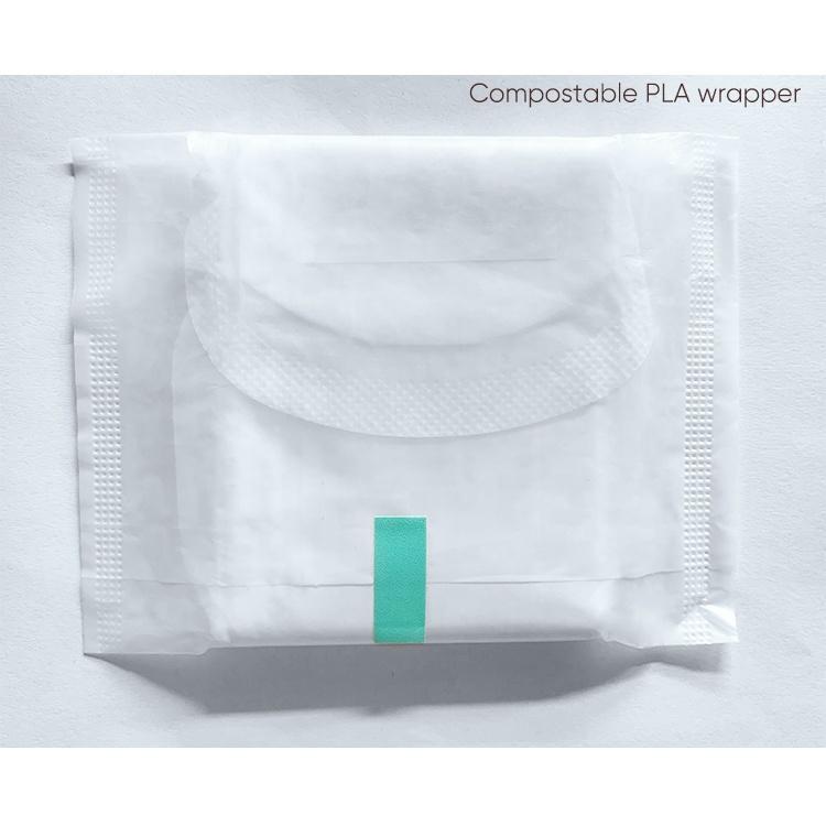 Eco-Friendly 100% biodegradable sanitary pads organic cotton menstrual decompose lady napkin
