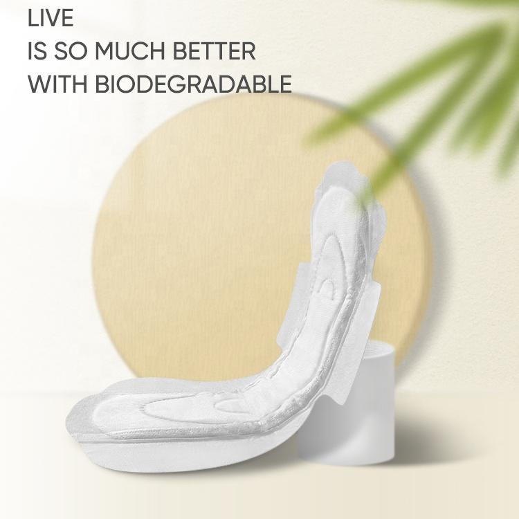 100% biodegradable Italy organic sanitary napkins hypoallergenic sanitary pads manufacturing