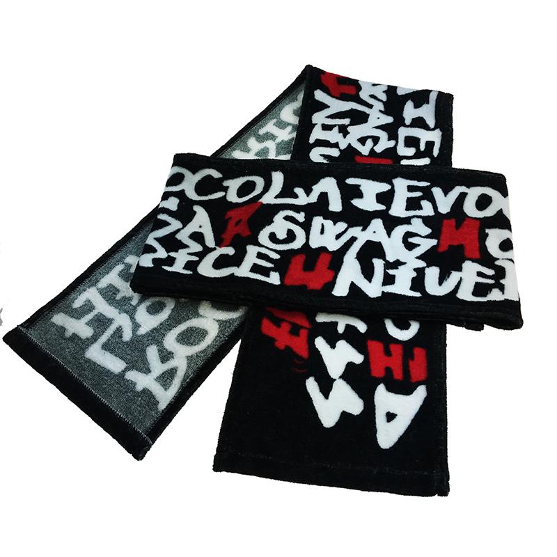Custom made 100% cotton digital print sweat absorbent sports towel