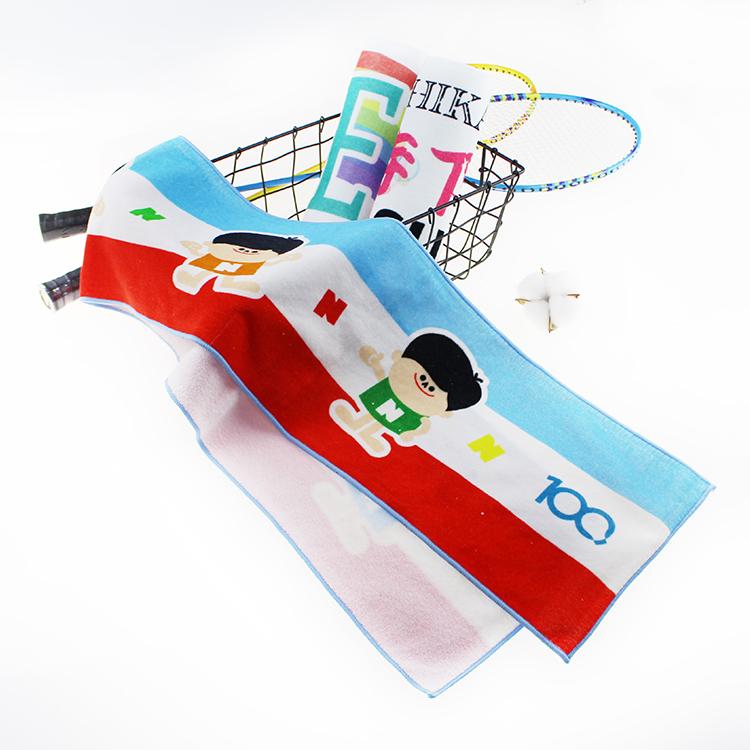Hot Selling Custom Logo 100% Cotton Printed Slogan Towel Sports Towel for Gym