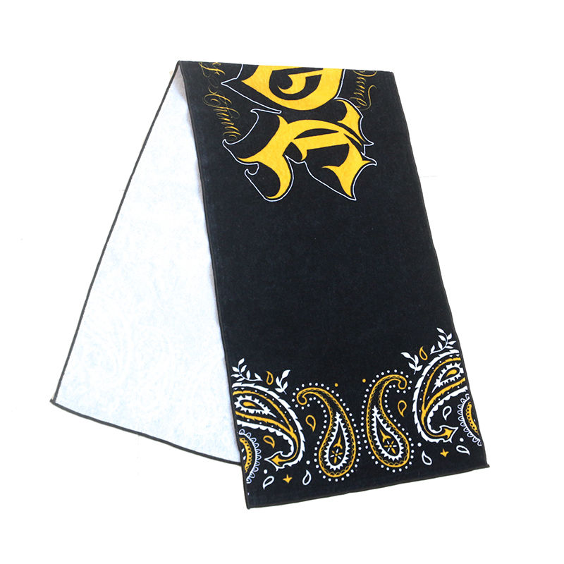 100% cotton pattern custom print quick drying towel sportstowel