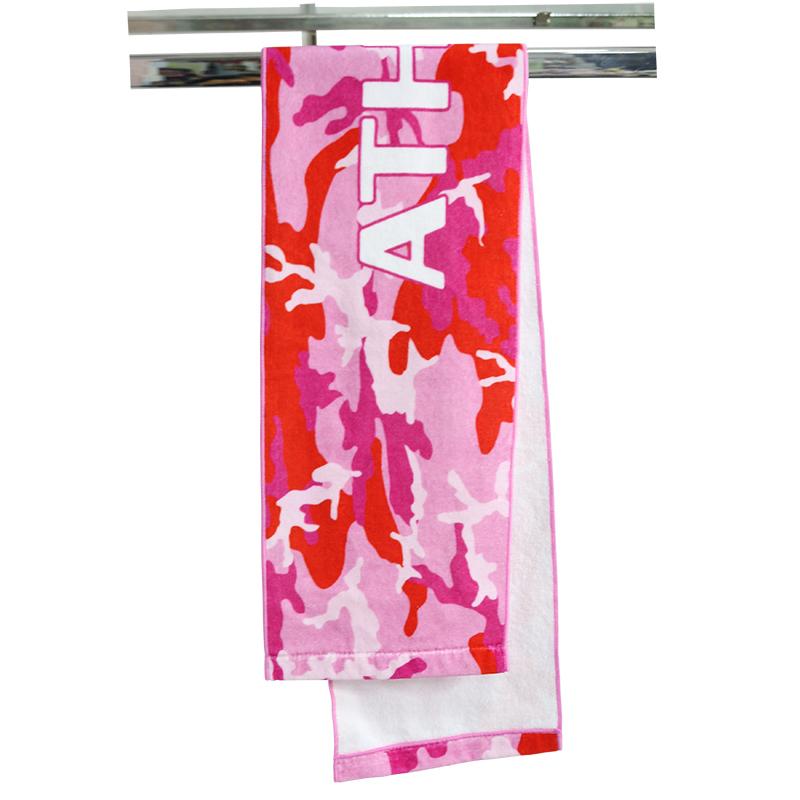 Personalizedbranded 100% cottonmaterial digital printoutdoor sportyogatowel with custom design