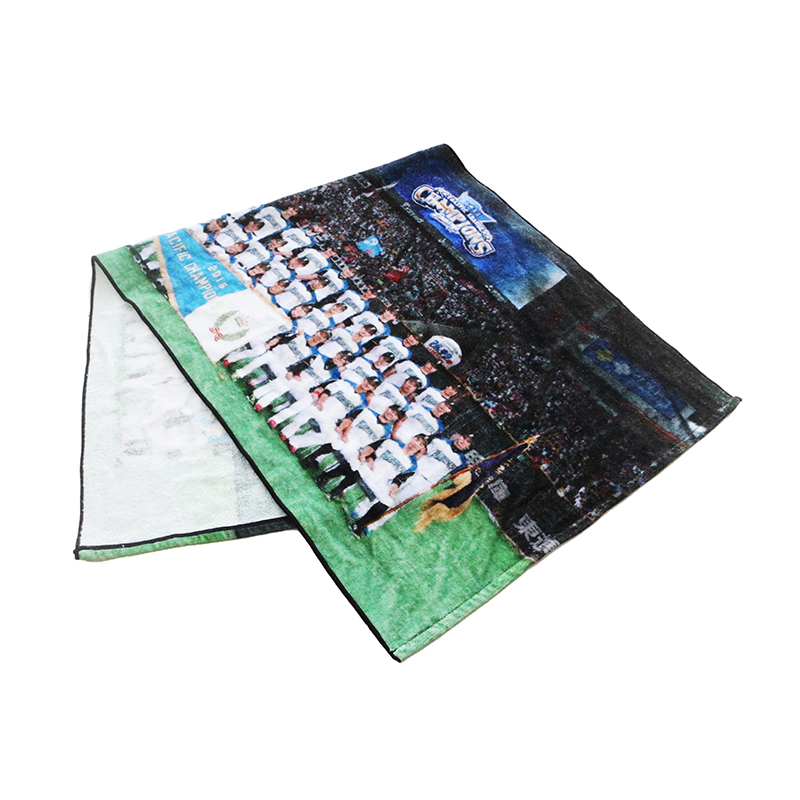 100% cotton customized digital printed soft Face competition Face towel