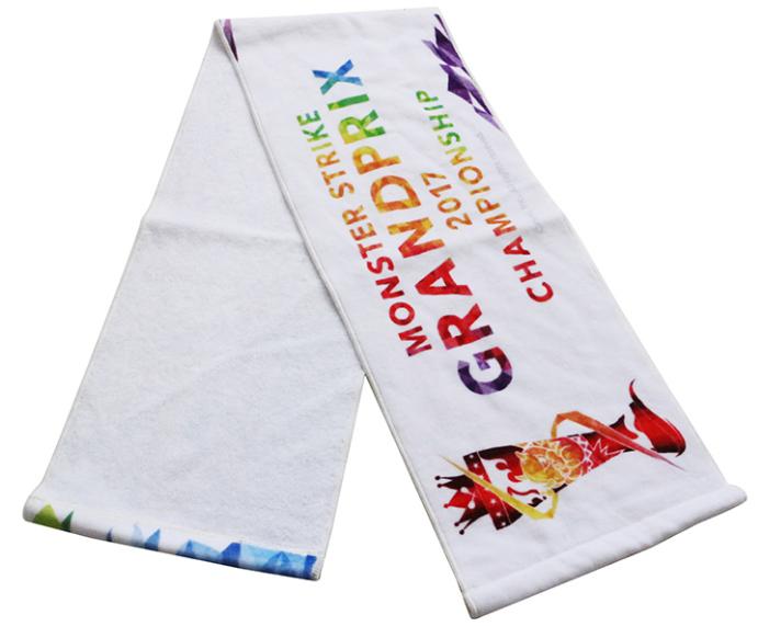 custom personalized logo design digital printing cotton gym sports sweat towel