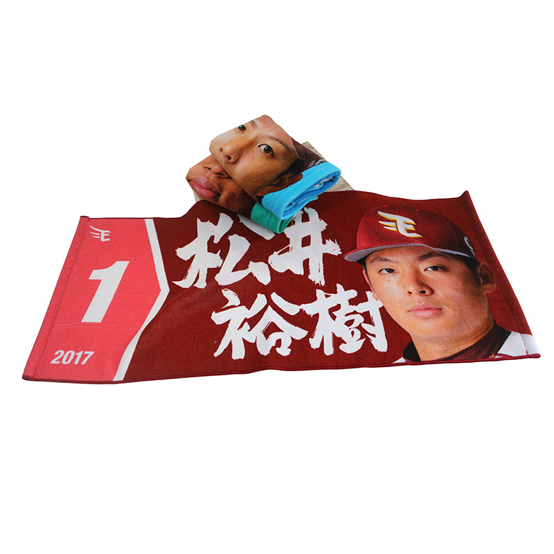 China Supply Personalized Custom Digital Printing Photo Printed Sports Towel Gym Towel Promotional