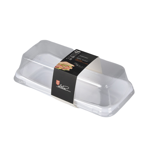 Custom Sticker Small Disposable Transparent Plastic Cake Boxes on Sale