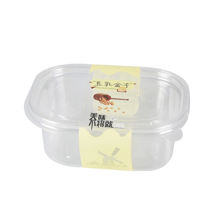 Custom Small Pp Clear Plastic Fruit Cake Box With Lid