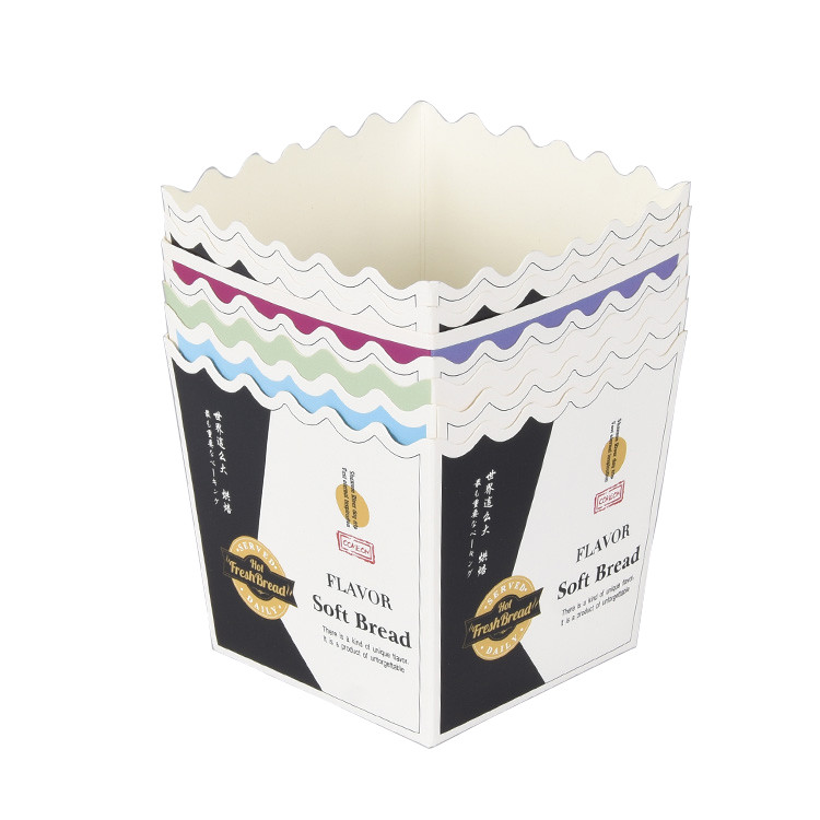 Paper Material Custom Disposable Foldable Cardboard Cake Box Food Paper Box