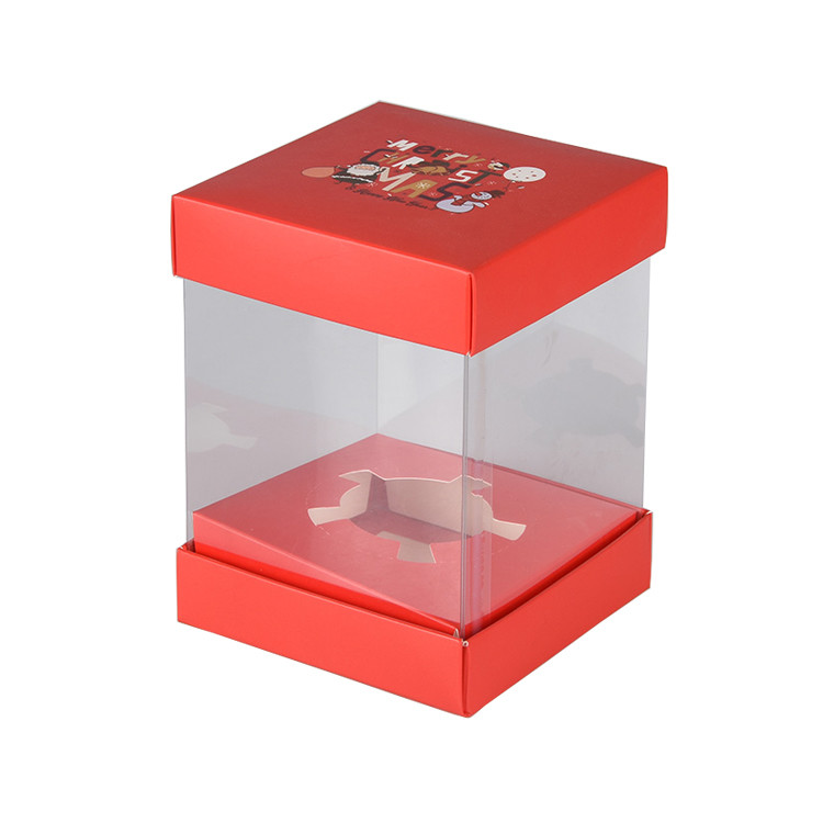 Wholesale Transparent Clear Cake Packaging Box with Paper Cardboard
