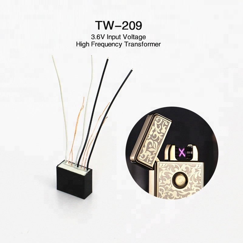TW-209 Dual Arc Ignition Coil Electronic Lighter Parts High Voltage Arc Transformer Cigarette Metal
