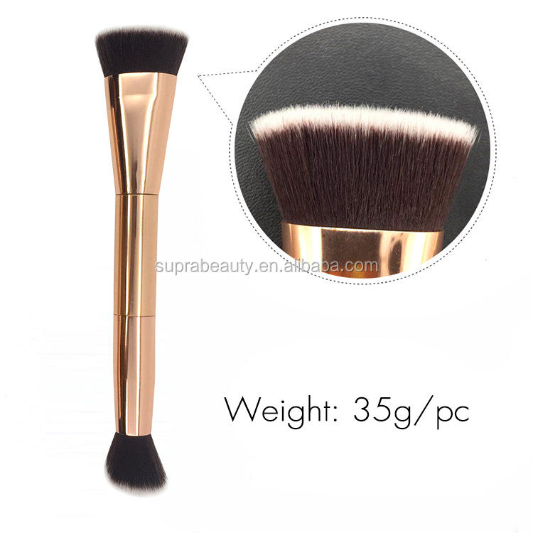 Suprabeauty cruelty free synthetic hair flat top liquid foundation makeup brush set