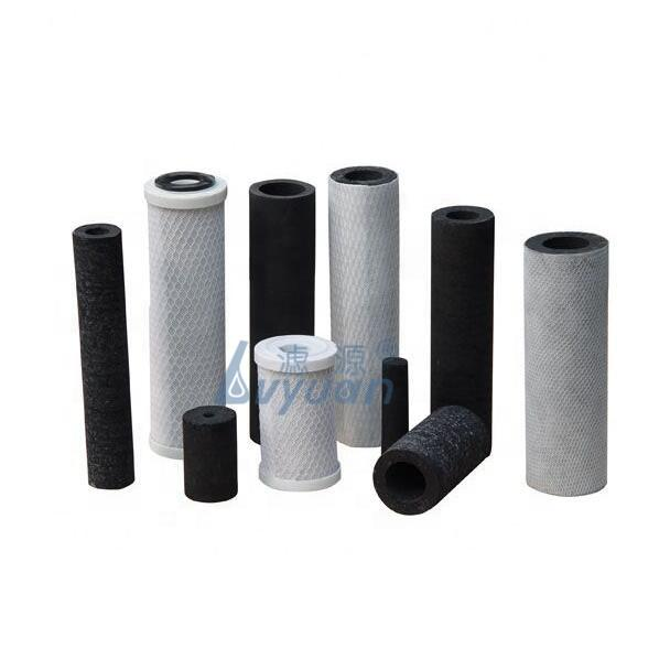 customized specification activated carbon filter cartridge/sintered carbon water cartridge for water filter