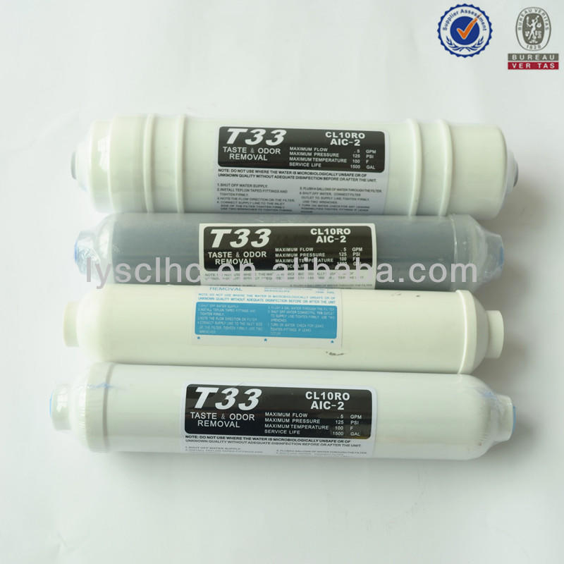 5th stage T33 inline carbon filter cartridge with quick fitting