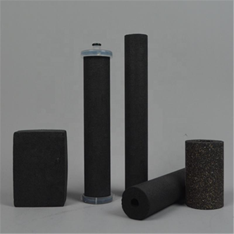 10 20 30 40 inch Compressed activated carbon filter cartridge 222 end-cap