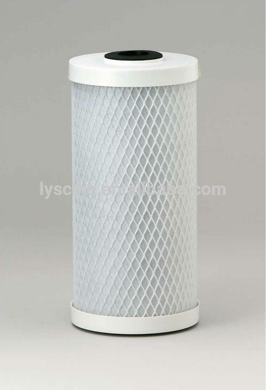 Household Jumbo activated carbon water filter for CTO block cartridge