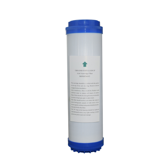 flat press 10 inch granular activated carbon filter cartridge for RO water filter