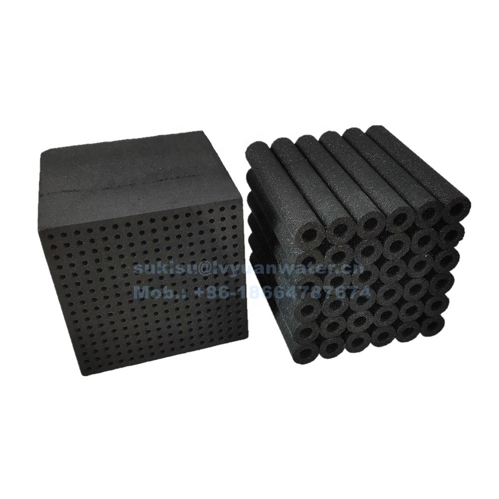 Manufacture Customized Cube Filter Honeycomb activated carbon for hepa industrial air filters