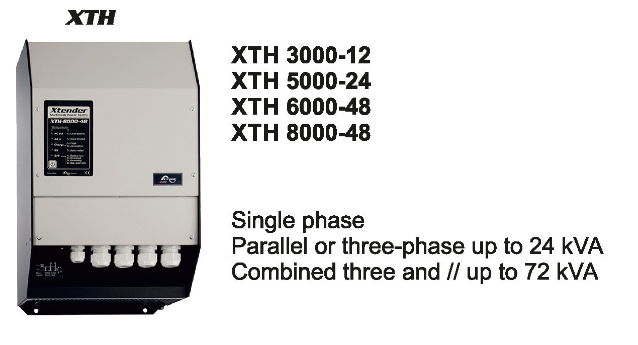 Steca Studer Xtender off Grid PV Inverter 8000W 48V