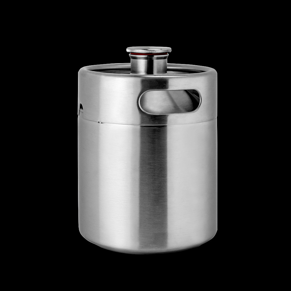 64 oz ss pressurized stainless steel lid dispenser beer growler bottles keg