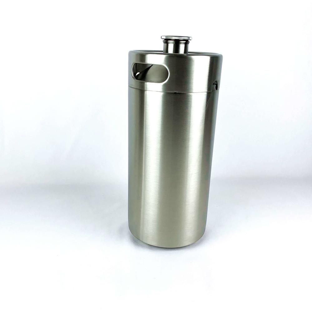 wholesale 3.6L homebrew stainless steel portable mini beer keg barrel growler