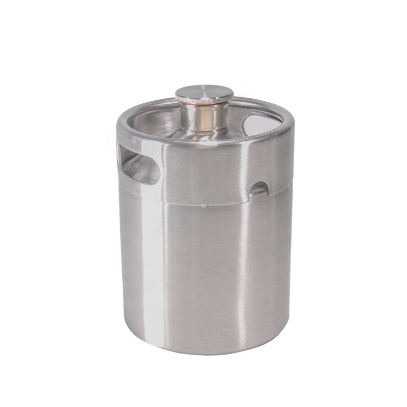 Homebrew Mini Keg 2L Stainless Steel Beer Growler