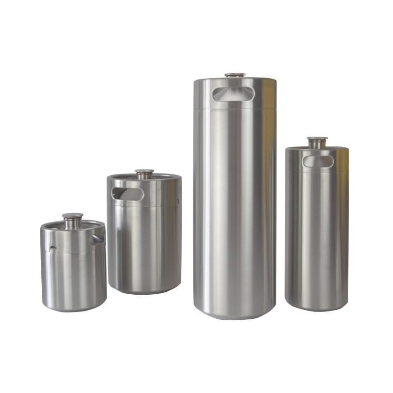 stainless steel 304 2l 4l 5l growler mini beer kegs