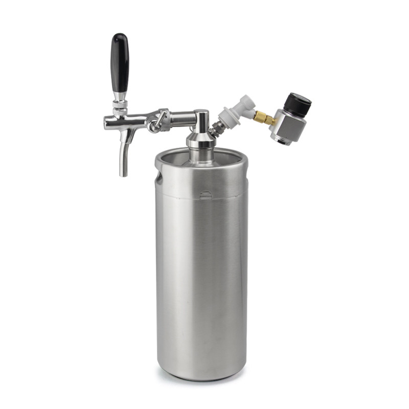 manufacturer mini keg stainless steel 128 ounce keg style growler for gift