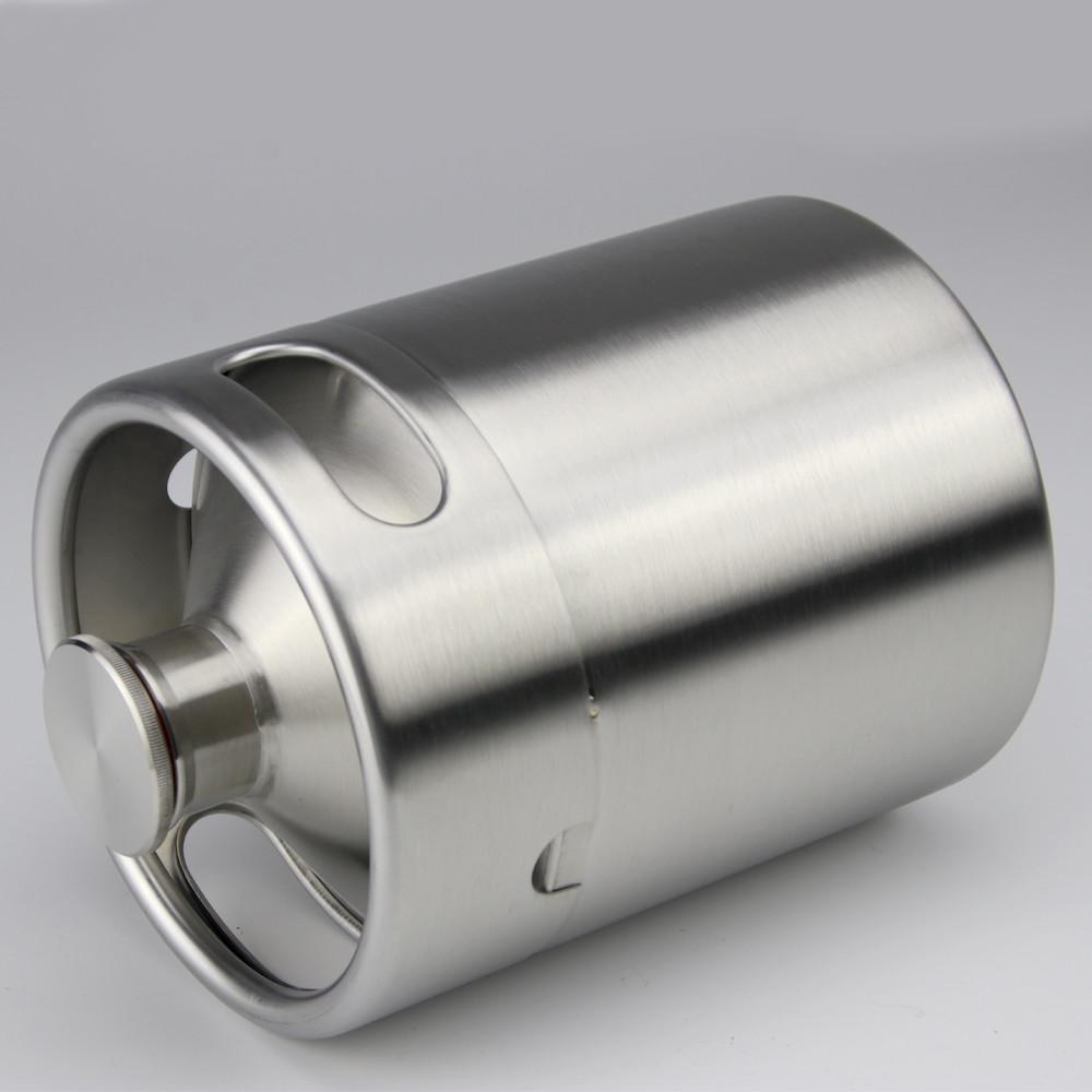 high quality hot sale new product 2l 64oz dimpl beer ball lock mini keg growler 2 liter