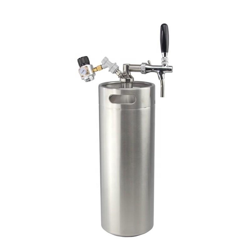Mini CO2 Regulator Stainless Steel beer keg 170oz 5 litre beer Growler