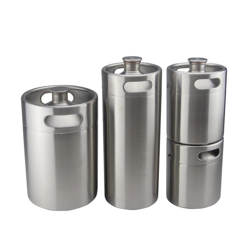 stainless steel 2l 4l growler mini beer keg 5l