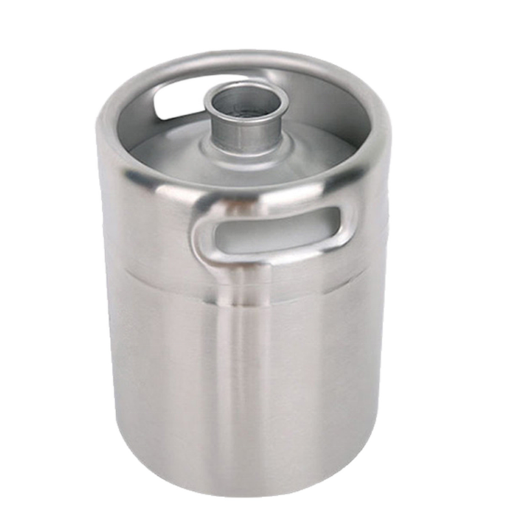 AISI 304 stainless steel mini keg 2L growler