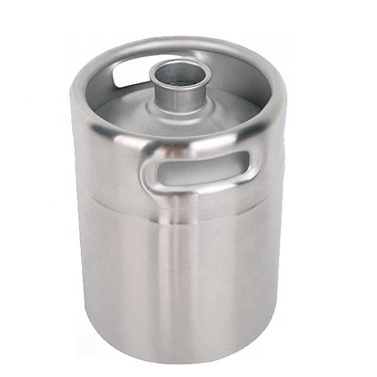 AISI 304 stainless steel mini keg 2L growler